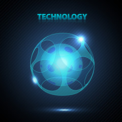 Abstract 3d technology sphere.