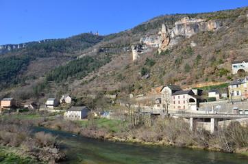 village de Les vignes, Gorges du Tarn
