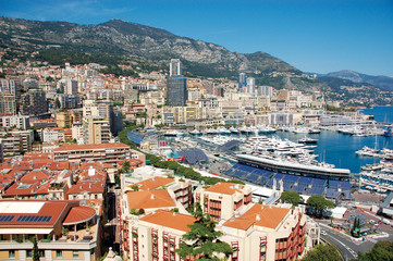 Monaco Côte d'Azur Riviera Stadtansicht