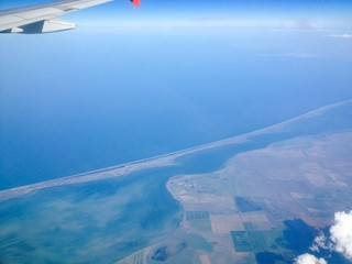 Black sea plane view