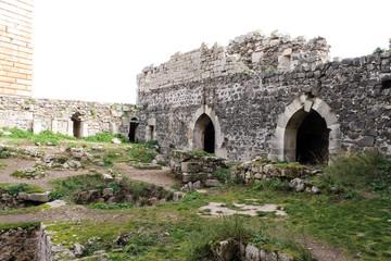 世界遺産クラック・デ・シュヴァリエの内壁