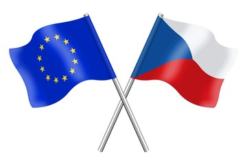 Flags : Europe and Czech Republic