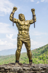 Statue of Prometheus with Broken Chain