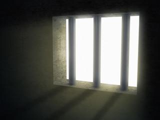 light of jail indoor freedom concept