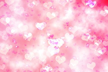 Digitally generated girly heart design