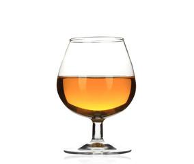 Poster de jardin Bar Brandy cognac glass isolated.