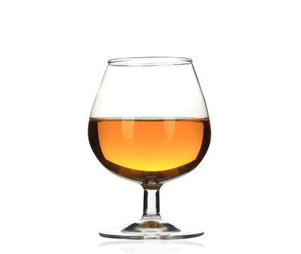 Brandy cognac glass isolated.