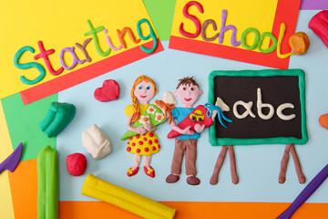 Starting School (picture made of plasticine)
