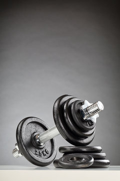 Dumbbell with Black Discs