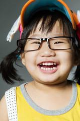 Portrait Of happy asian cute Girl
