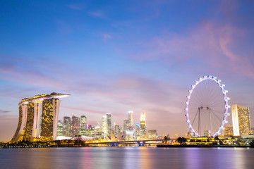 Foto op Plexiglas Singapore Singapore city downtown