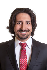 Passport picture of turkish businessman