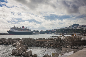 Queen Mary 2, one of the largest cruise ships in the world,