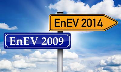 Wegweiser mit EnEV 2009 und 2014