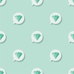Seamless pattern with emerald