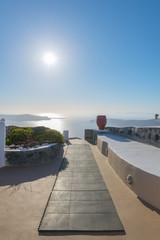 Fototapete - Greece Santorini Panoramic view of caldera