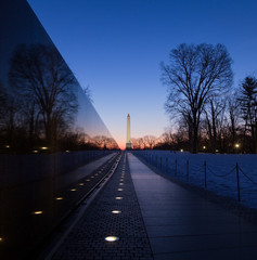 Washington, DC - Washington Monument and Vietnam Memorial