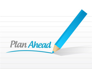plan ahead message illustration design
