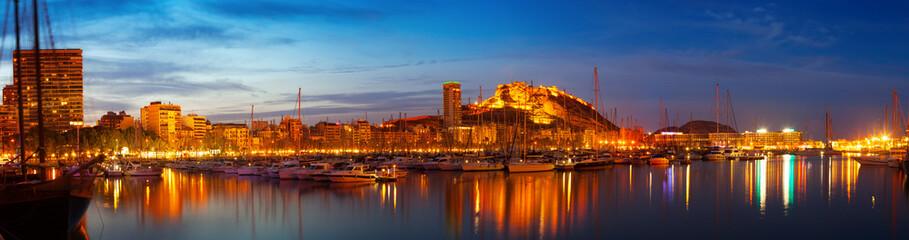 Alicante in night, Spain