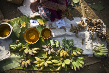 marché de bananes, Myanmar