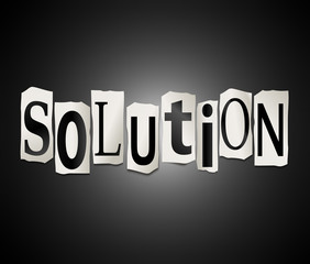 Solution concept.
