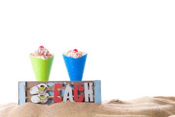 Icecream cone on the beach