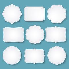 Vector set of paper decorative frames