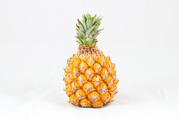 pineapple fruit with white isolated background
