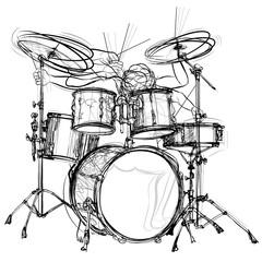 In de dag Art Studio drummer
