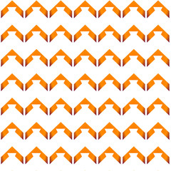 chevron pattern in orange