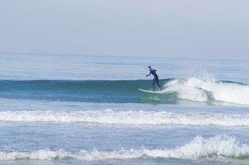 Surfer, Pacific beach, San Diego, California