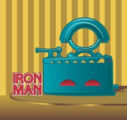 Retro smoothing iron poster design