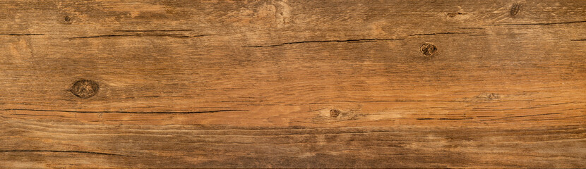Obraz Wood texture background, long rough barn plank with nature pattern, old brown board - fototapety do salonu
