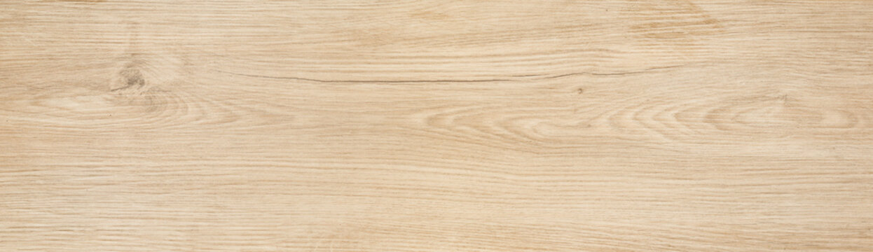 Wood texture background, long light plank with nature pattern