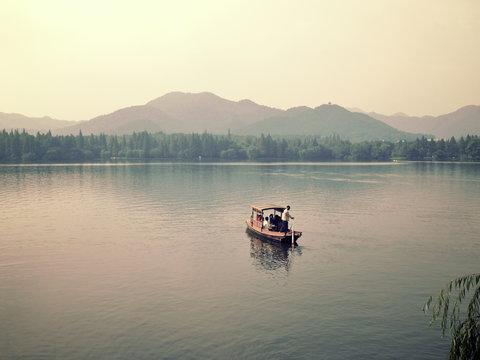 Xihu west lake in hangzhou china