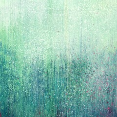 Grunge turquoise acrylic paint background texture paper