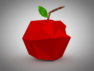 Red Apple paper graphic