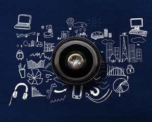 Composite image of camera lens