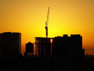 Affiche - Crane Silhouette NYC-9