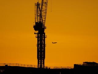Affiche - Crane Silhouette NYC-7