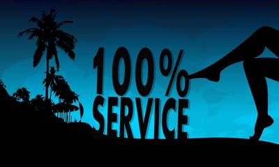 service symbol on a beach