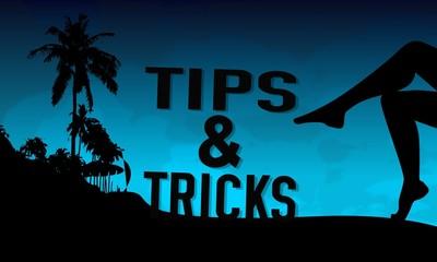tips symbol on a beach