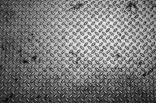 Black and white Diamond steel plate background