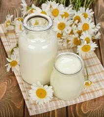 Milk, yogurt and chamomile