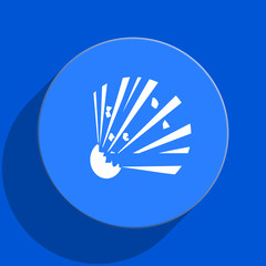 bomb blue web flat icon