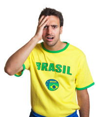 Shocked brazilian soccer fan