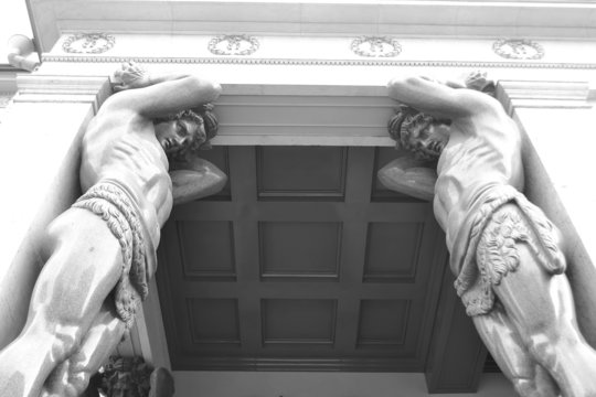 Atlas Statue at Entrance of New Hermitage