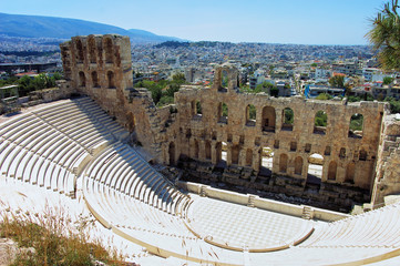 Foto op Aluminium Athene Odeon of Herodes Atticus in Athens, Greece