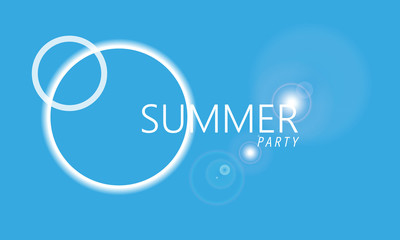 illustration summer party background