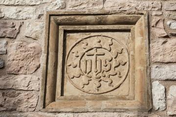 Jesus-Monogramm Assisi, Italien